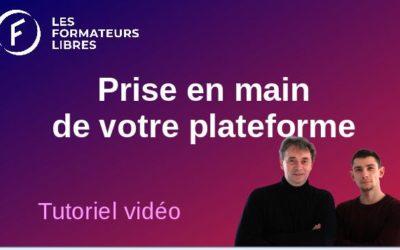 Formation vidéo sur la prise en main de votre plateforme chez les formateurs libres