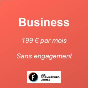 image abonnement mensuel BUSINESS des formateurs libres à 199 € par mois