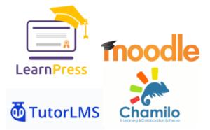 les LMS proposés chez les formateurs libres, Learnpress, tutorLMS, Moodel, Chamilo